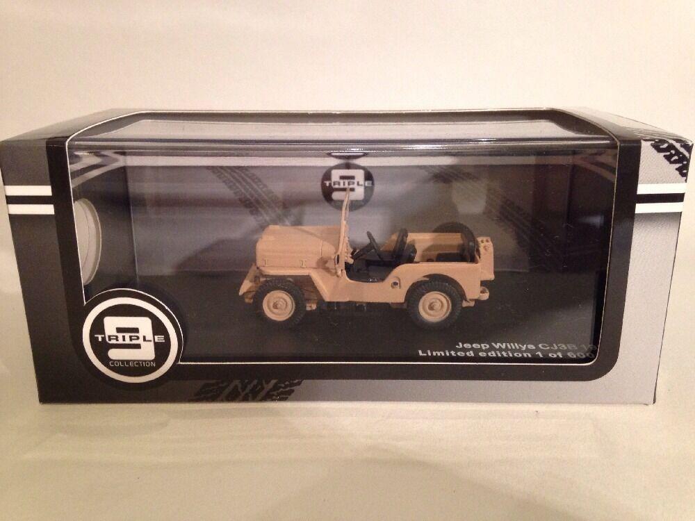 connotación de lujo discreta Jeep Willys Cj3b 1953 Beige Arena Triple 9 T9-43039 T9-43039 T9-43039 Nuevo en Base 1 Of 600 Pcs  precios mas bajos