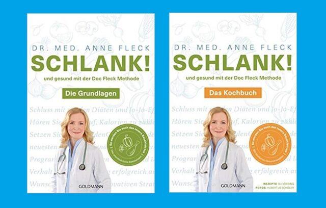 2 x Schlank und gesund mit der Doc Fleck Methode: GRUNDLAGEN+KOCHBUCH. TB. NEU!