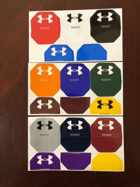 Under Armour Football Helmet Visor Eye Shield Decals Stickers Tabs Colors