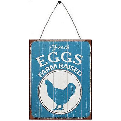 retro vintage style metal sign man cave shed Garage Farm Fresh Eggs
