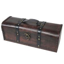 Rettangolare lunga bottiglia di vino Storage Case Box Regalo Vintage in legno CRATE CARRIER