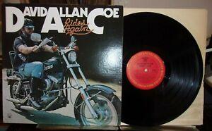 David-Allan-Coe-Rides-Again-1977-Columbia-KC-34310-EX-VINYL