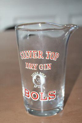 0,50 Liter Glaskrug/pitcher, Glaskaraffe (silver Top, Dry Gin, Bols)