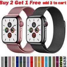 Banda de bucle milanesa iWatch correa para Apple Watch Serie 5 4 3 2 1 38 42 40 44mm