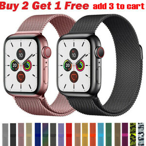 For Apple Watch Series 6 5 4 3 2 1 Milanese Loop Band iwatch Strap 38 42 40 44mm