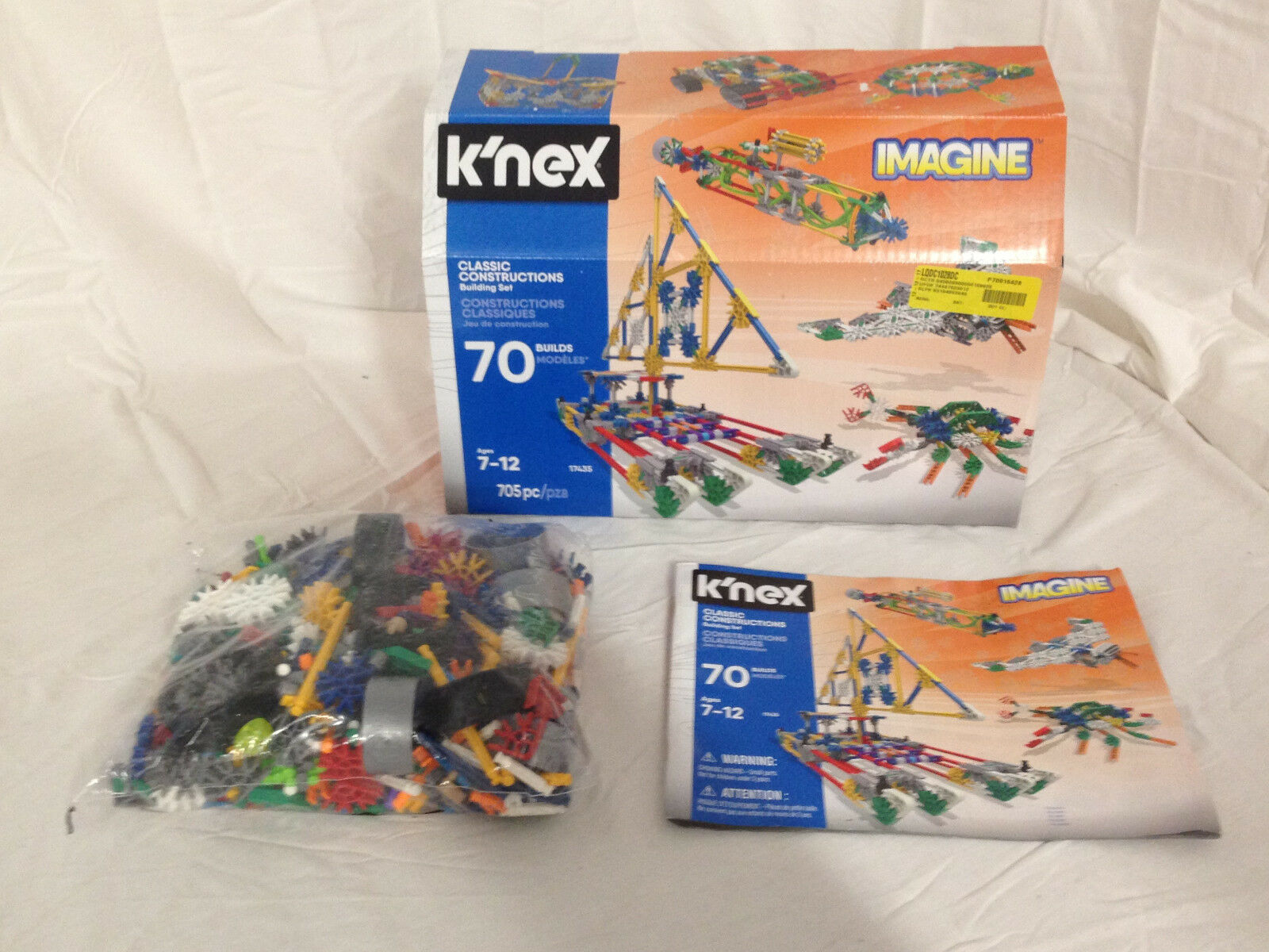 K'Nex Classic Constructions Building Set - 705 pieces - New