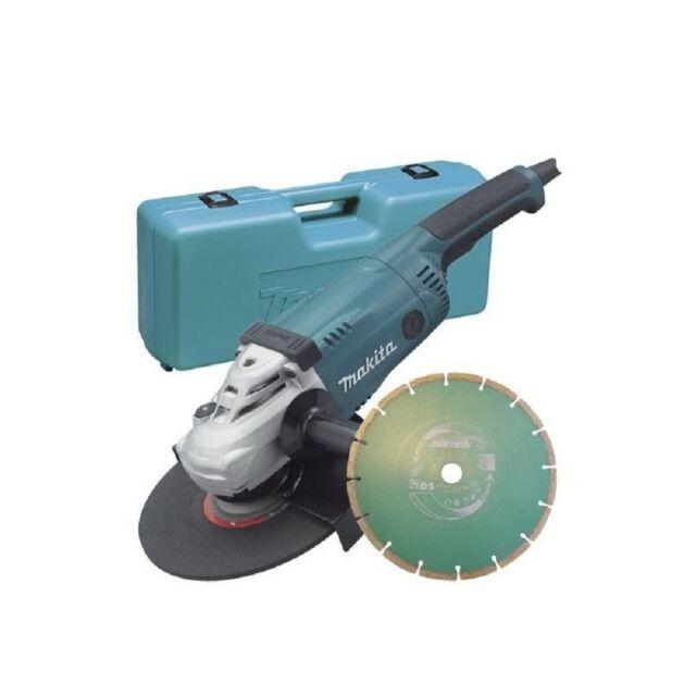 Makita GA9020KD 110V 9//230mm Angle Grinder with Case with 2 x Diamond Wheel