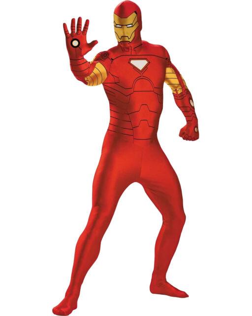 Adulti Da Uomo Marvel Iron Man Costume in standard ed extra large