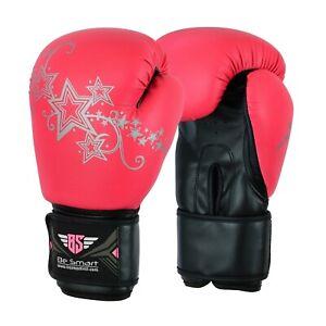 Ladies Gold Gel Boxing Gloves Bag Womens Gym Kick Pads MMA Mitts Muay Thai 10 Oz 16 Oz UK