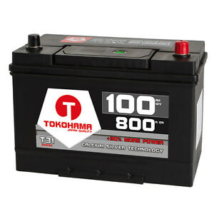 Asia-Autobatterie-12V-100Ah-Plus-Pol-Rechts-Batterie-Starterbatterie-Japan-KFZ