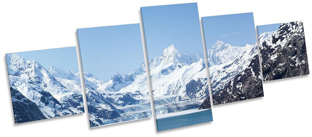 Las montañas de Alaska Lienzo Enmarcado Glacier Bay impresión impresión impresión de cinco paneles de pa rojo  Arte 6b0b7a