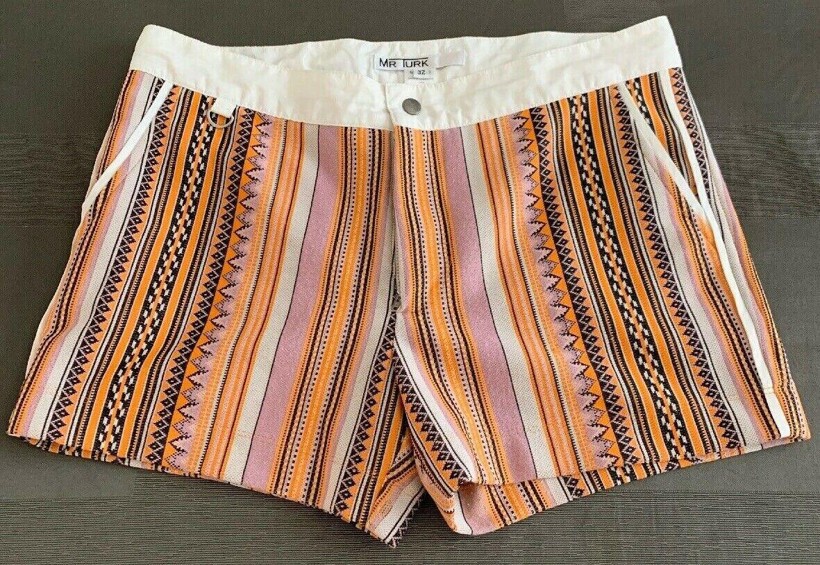 MR TURK 'Bartlett Vintage Stripe Knit' Men's Swim  Bathing Trunks Shorts 32 EUC