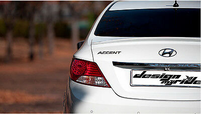 Rear Trunk Lip Spoiler  For Hyundai  Accent (2011~on)  / 4DR ////