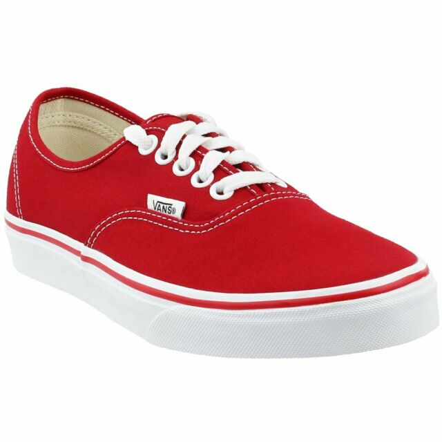 3c6b3e4d VANS Boys Authentic Red Canvas Shoes Youth Size Athletic Casual SNEAKERS 5