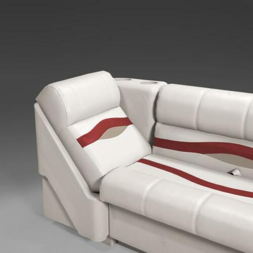 Burgundy and Tan Premium Right Lean Back Pontoon Seats In Ivory