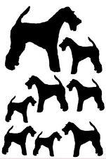 Welsh Terrier vinyl stickers, decals, for car, window