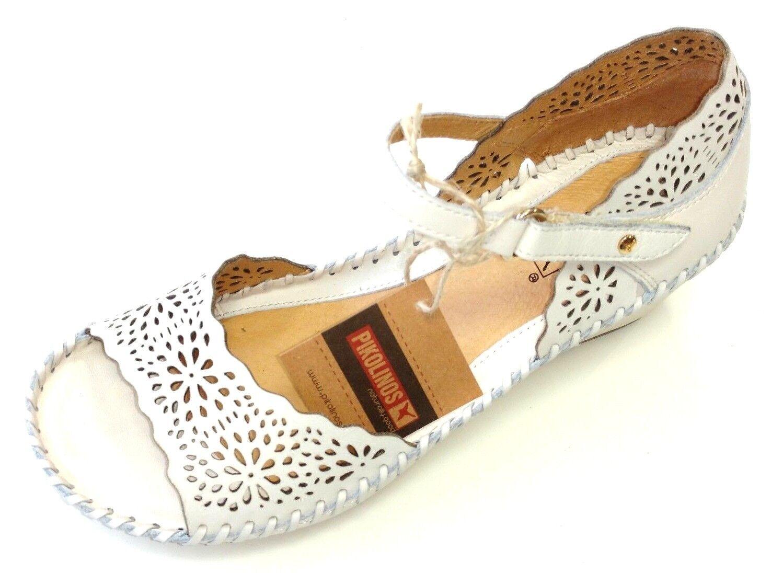 Pikolinos Damen Schuhe Slipper Sandale Sandale Slipper Sandalette 943-0986 Nata weiß Leder 1d7796