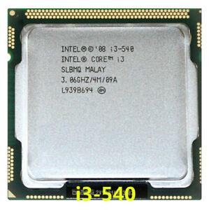 Intel Core i3-540 CPU Dual-Core 3.06GHz / 4MB LGA1156 SLBMQ Processor