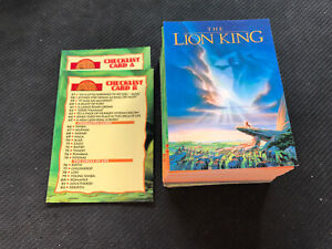 1994-SKYBOX-DISNEY-THE-LION-KING-CHARACTER-CIRCLE-COMPLETE-90-CARD-SET