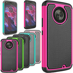 For-Motorola-Moto-X4-X-4th-Gen-Shockproof-Slim-Rugged-Rubber-Hybrid-Case-Cover