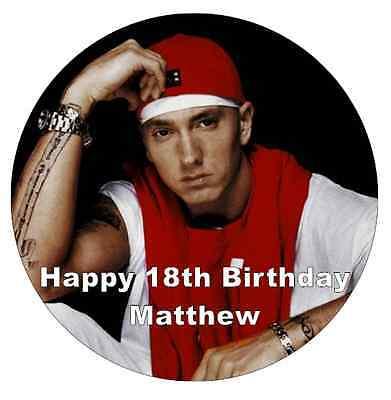Super Eminem Personalised Cake Topper 7 5 Edible Wafer Paper Ebay Funny Birthday Cards Online Bapapcheapnameinfo