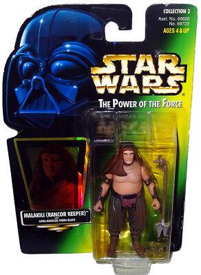 Star Wars Power of the Force POTF Green Card Malakili Rancor Keeper .00