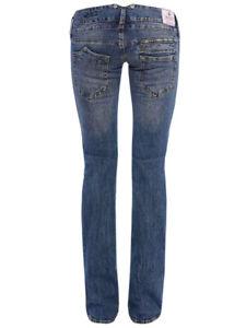 Details about Herrlicher Women's Jeans Trousers Pitch 5003 D9661 765 Fringe Denim Comfort +