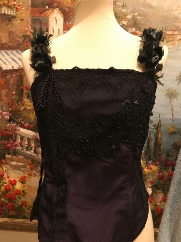 Women's Corset Top Victorian Vintage Style Purple… - image 1