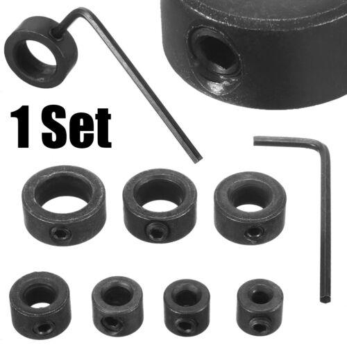Bohrer Bit Tiefenanschlag Stop Halsbänder Ring Dübel 3//4//5//6//8//10//12 mm Set