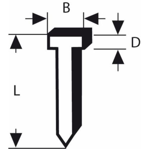 BOSCH Nagel Typ 47 1,8 x 1,27 x 23 mm