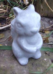 """Latex small  squirrel Mold Plaster mold Concrete mold 3"""" x 1.5"""""""