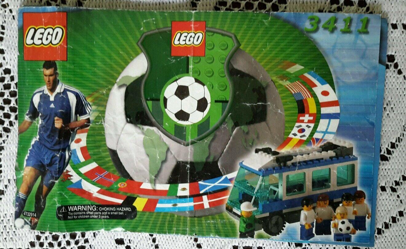Legos Sports Soccer Set   3411 Americas Team Bus Instructions Manual Only