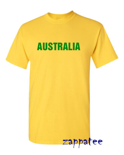 Australia T Shirt Ages 3-4 to Adult XXL Rugby cricket holiday etc.