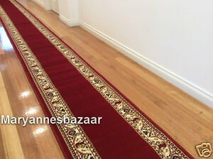 Hallway-Runner-Hall-Runner-Rug-6-Metres-Long-Traditional-Red-FREE-DELIVERY