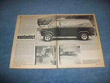 "1972 Chevy Van G10 C10 Vintage Custom Article ""Vantastic!"""