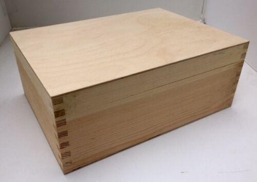 * bois de pin 6 compartiment boîte de thé 23,5 x17x9cm rn02 poitrine Caddy pièces stockage