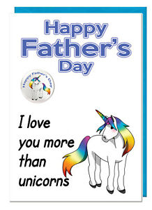 I Love You More Than Cheese Funny Fathers Day Card /& Badge For Dad Stepdad