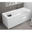 miniatura 9 - Badewanne für Senioren Tür rechts und integrierter abnehmbarer Sitzbank 180 cm