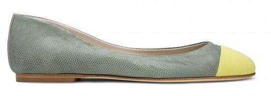 Scarouge  ALDA  Ballerines Flats Chaussures en daim vert jaune Snake Print UK8 EU41