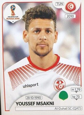 Sticker 567 Panini WM 2018 World Cup Russia Fakhreddine Ben Youssef Tunesien
