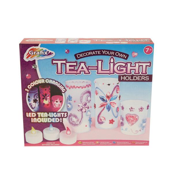 Grafix Design Decorate Make Your Own Tea Light Holders Girls Craft Toy Birthday