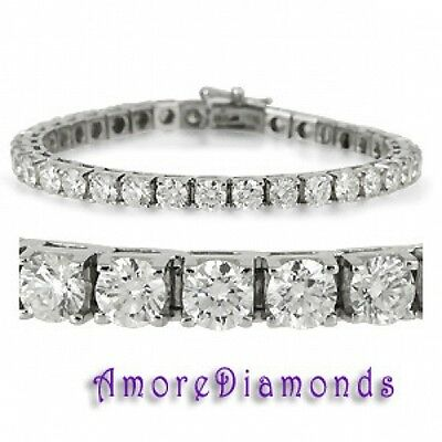 6 ct F VS2 round ideal cut diamond 4 prong square box tennis bracelet white gold