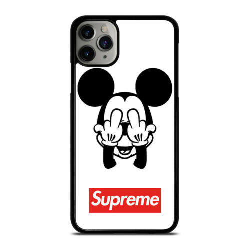 MICKEY MOUSE SPR MIDDLE FINGER iPhone 6//6S 7 8 Plus X//XS XR 11 Pro Max Case Cove