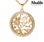 Brillante-Collar-Mujer-Buho-Arbol-De-La-Vida-Oro-Joya-Regalo-Dia-de-la-Madre miniatura 1