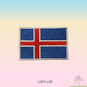 Iceland National Flag Embroidered Iron On Patch Sew On Badge