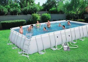 Details about Pool, above ground, Bestway frame bracket Set, PVC,  24\'x12\'x52\