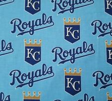 """KANSAS CITY ROYALS  NFL PATCHWORK 60/"""" Cotton Fabric BTY Fabric Traditions lab"""