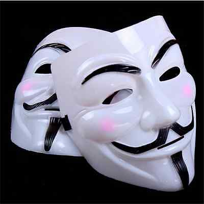 New V for Vendetta Mask Anonymous Guy Fawkes Fancy Dress Adult Costume cosplayY
