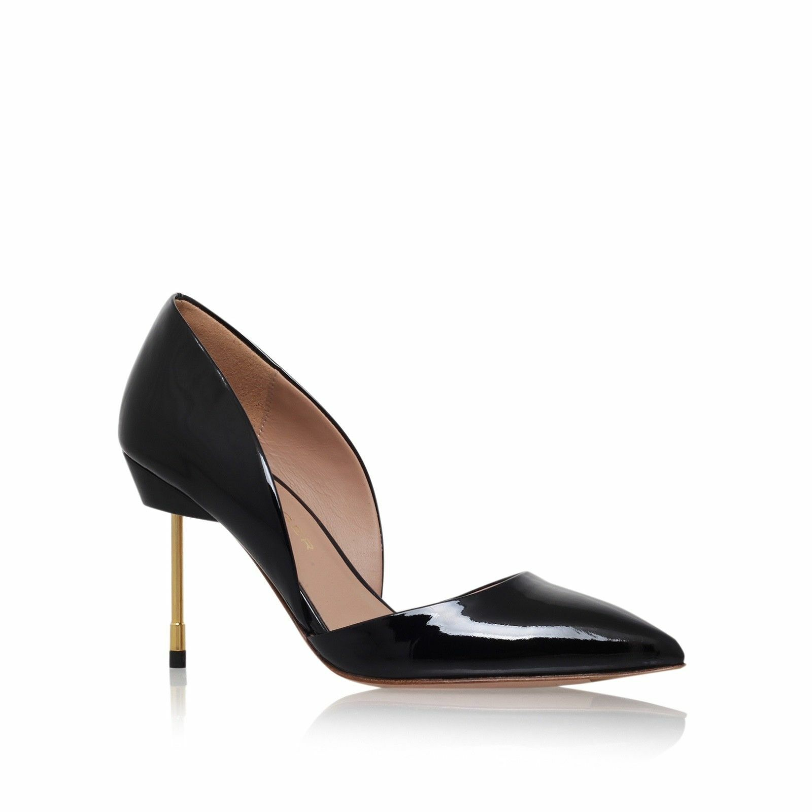 Kurt Geiger London Bond Size 7 EU 40 Womens Black High Heels Court shoes New