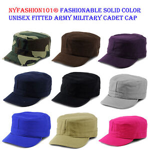 42a2e94883368d Image is loading NYFASHION101-Fashionable-Solid-Unisex-Fitted-Army-Military -E-